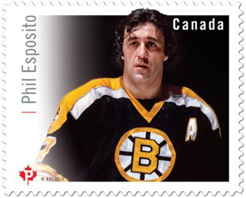 National Hockey League NHL Phil Esposito stamp, 2016, Canada