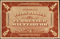 Stamp for Third Barrel Fermented Malt Liquor