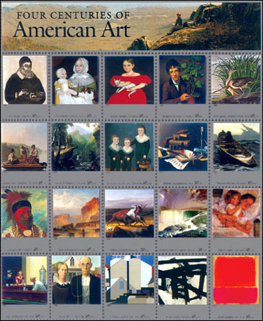Four Centuries of American Art, postage stamp sheet