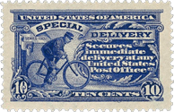 Special Delivery Stamp US, 10 Cents