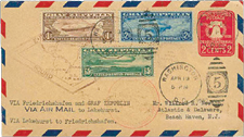 US Cover with Graf Zeppelin Stamps