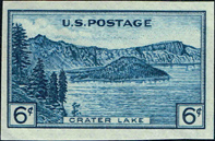 Farley Stamp, Scott 761, National Parks, Crater Lake, 1935