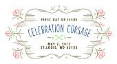 Celebration Corsage Stamp - Celebration Corsage FDOI