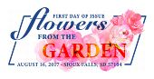 Flowers From the Garden Stamps, USPS 2017, United States Postal Service, FDOI