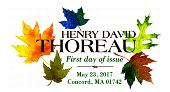 USPS - Henry David Thoreau Stamp - First Day of Issue 2017