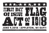 USPS - Flag Act of 1818 Stamp - First Day of Issue, June 9, 2018