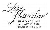 USPS Love Flourishes Cancel 2018