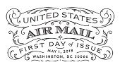 USPS - US Airmai Stamp - First Day of Issue, 2018
