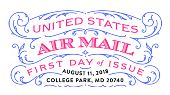 USPS - US Airmail Stamp - First Day of Issue - 2018