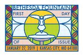 Bethesday Fountain First Day of Issue, FDC 2019