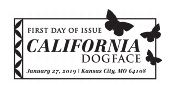 California Dogface (Butterfly) First Day of Issue, FDC 2019
