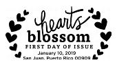 Hearts Blossom First Day of Issue, FDC 2019