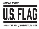 USPS, US Flag Cancel - First Day of Issue, January 27, 2019