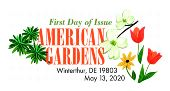 USPS American Gardens  Stamp - Color Cancel