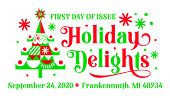 USPS, Holiday Delights cancel in color, 2020