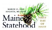 Maine Statehood color cancel