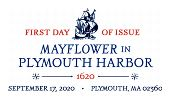 USPS, Mayflower in Plymouth Harbor cancel in color, 2020