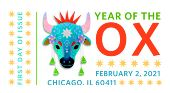 USPS, Lunar New Year - Year of the Ox 2021