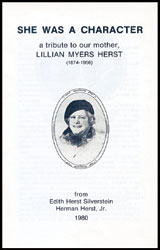 She Was A Character by Herman Herst, Jr.