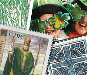 Irish Stamps, St. Patrick Stamps, Stamps of Ireland