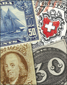 Stamps from Brazil, Switzerland and  Great Britian