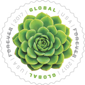 USPS - Green Succulent Stamp