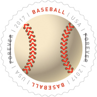 USPS Have A Ball Forever Stamp, Baseball Forever Stamp 2017