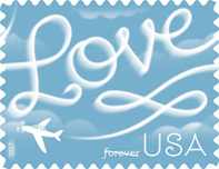 USPS Love Skywriting forever stamp, 2017