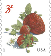 USPS Strawberries Stamp 2017