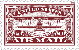 USPS Airmail Stamp 2018