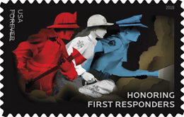 Honoring First Responders Stamp, USPS 2018