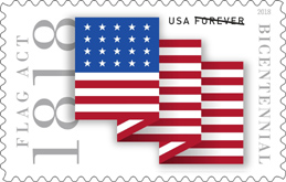 Flag Act Stamp, USPS 2018
