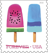 Frozen Treats Stamps, USPS 2018