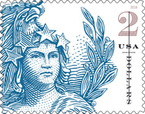 Statue of Freedom Stamp, Two dollar denomination