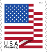 US Flag Stamp, 2018 USPS