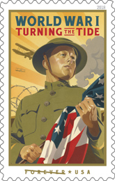 World War 1: Turning the Tide stamp, USPS 2018