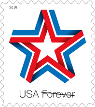 Star Ribbon Stamp, Star Ribbon Forever Stamp 2019, USPS