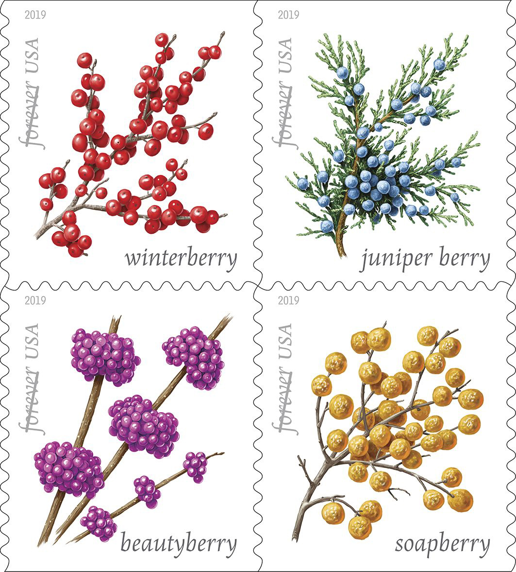 2019 Christmas Stamps.Usps New Stamp Issues 2019 On Stampnewsnow Com